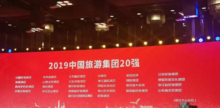 2019年中国旅游集团20强名单公布,6家省级旅游集团入选