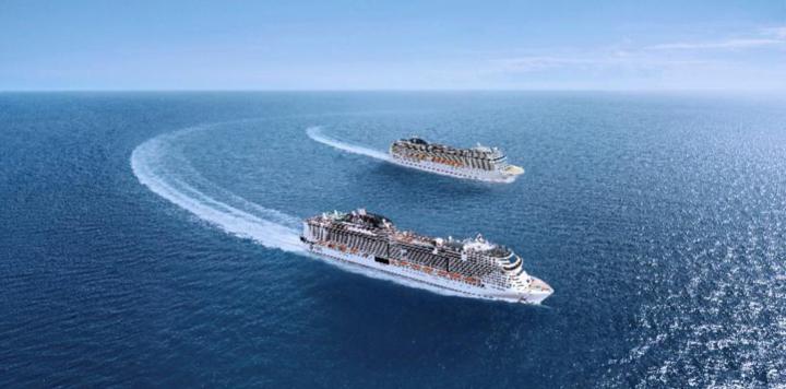 MSC地中海海际线号浮水出坞