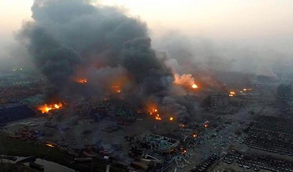 天津滨海码头爆炸 当地酒店免费开放服务全力救灾