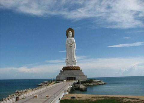 景区  山东省烟台南山大佛——释迦牟尼座像,位于山东省烟台市龙口市