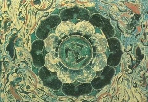 汉代藻井 莲花纹展示